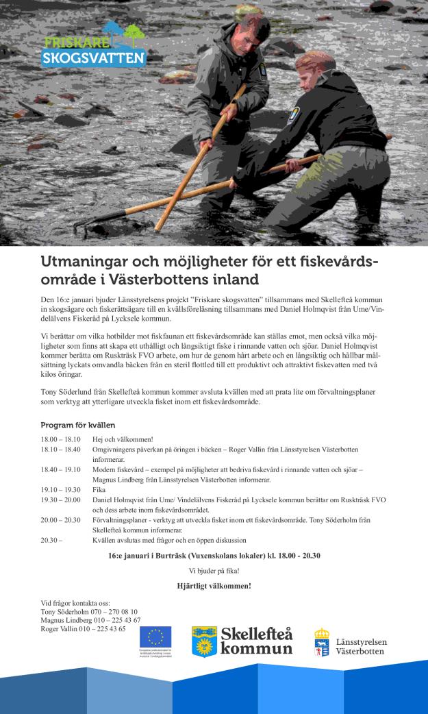 Inbjudan utmaningar och möjligheter för ett fiskevårdsområde i Västerbottens inland 20140116.pdf-sidor